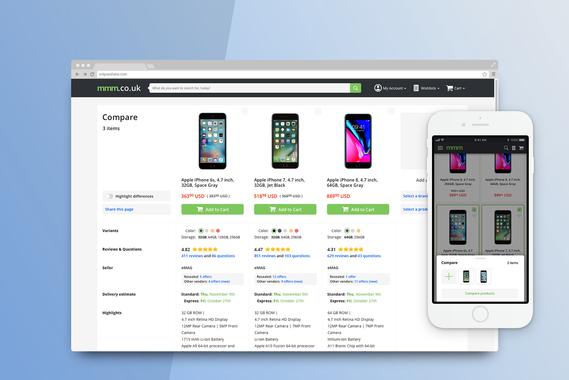 Comparison Page | eCommerce Website