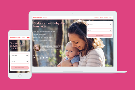 Find a Babysitter.com UX Research and Redesign