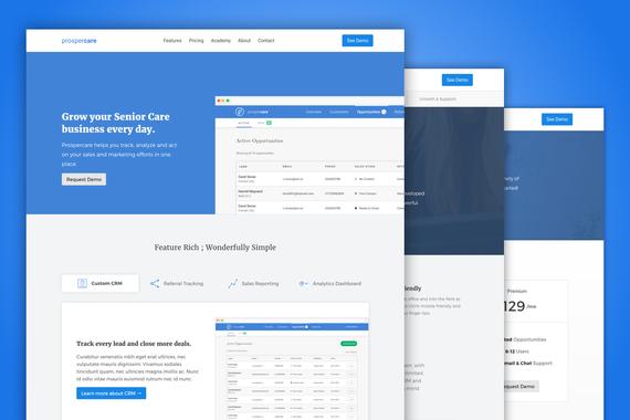 SaaS Software Marketing Website