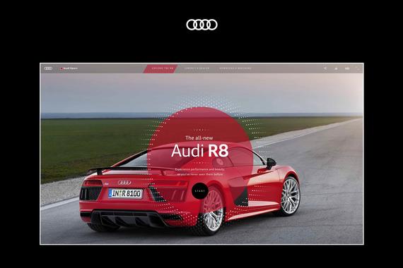 Audi R8 Blink   Immersive WebGL Video Experience