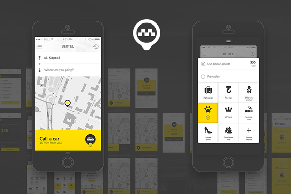 Taxi iOS Application | UI/UX Design, Style Guide