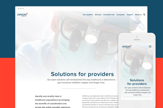 Orion Healthcare, Responsive Website