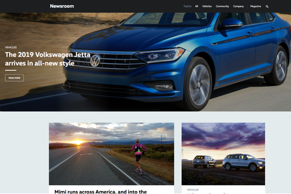 Volkswagen Newsroom: Responsive News Website