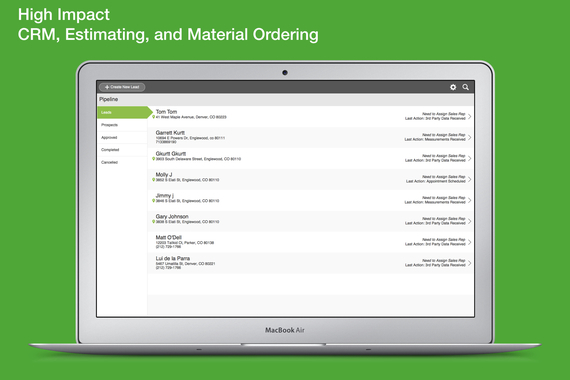 High Impact CRM, Estimating, and Ordering