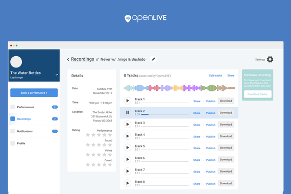 OpenLIVE   Platform for Recording and Distributing Live Audio