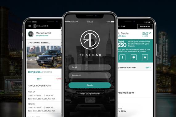 Real Car | Mobile/Desktop Website