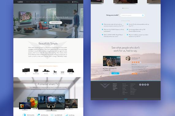 Vizio.com | Redesign