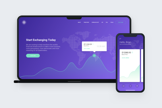 Cryptocurrency iOS App and Web