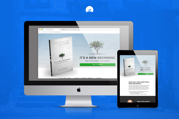 It's a New Beginning Book, Branding, and Landing Page Design