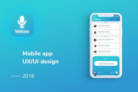 Voices | Mobile App UX/UI Design