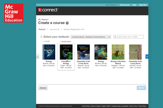 Reconfiguring McGraw-Hill Education's Connect