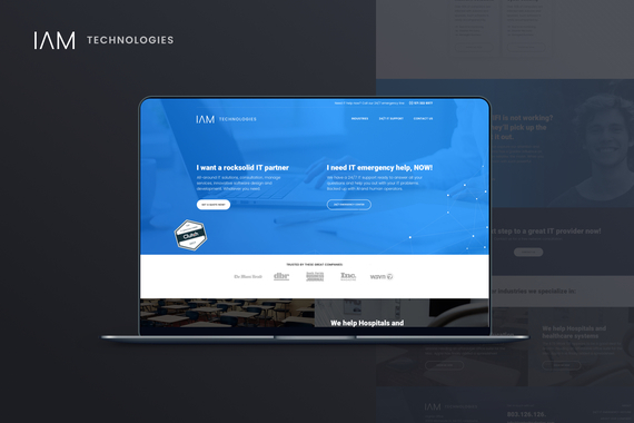 IAM Technologies | Website Redesign