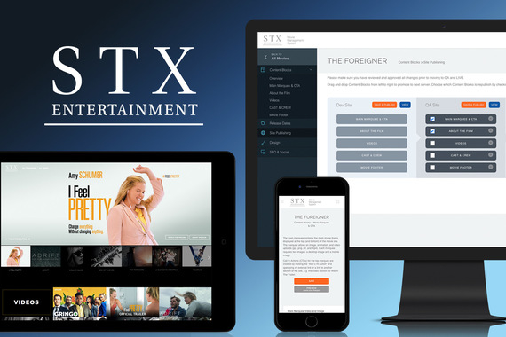 STX Entertainment Custom CMS | UX and Design