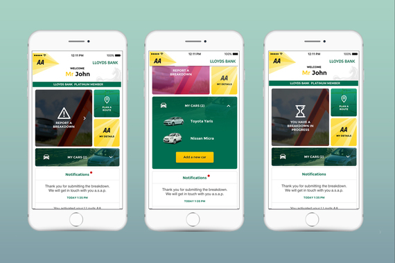 AA and Lloyds Bank Breakdown App