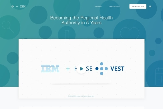 IBM + Helse Vest — Video Pitch Proposal and Web Page