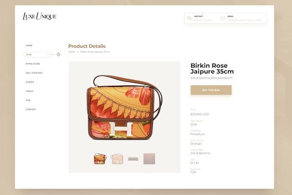 LuxeUnique - eCommerce Website