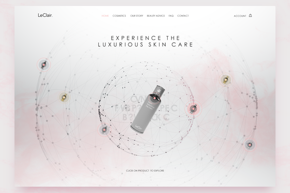 LeClair - Cosmetic eCommerce Website