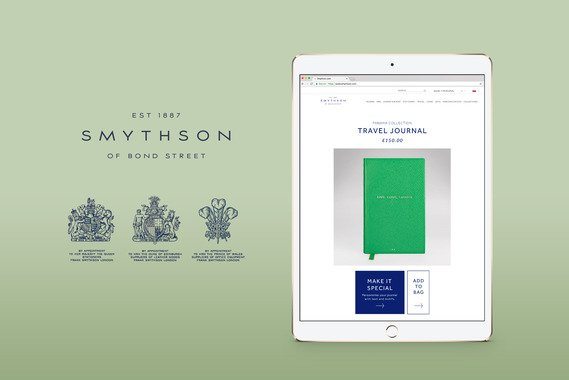 Smythson Personalization Website