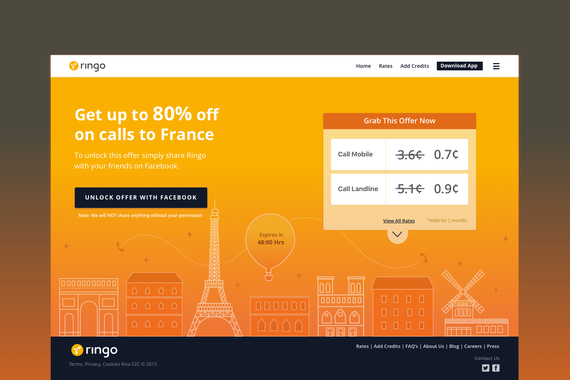 Landing Page Design for an Introductory Offer