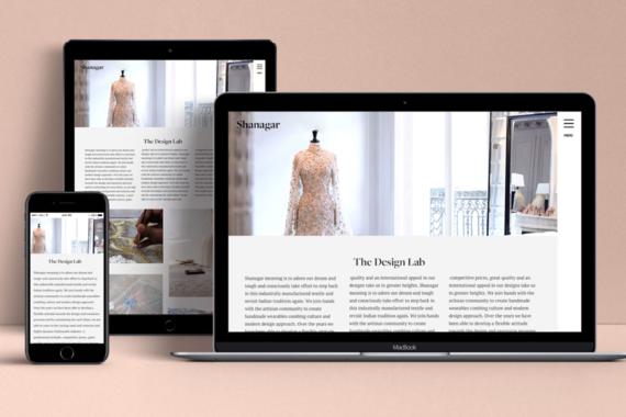 Website Design   Hand Embroidery Luxury Brand
