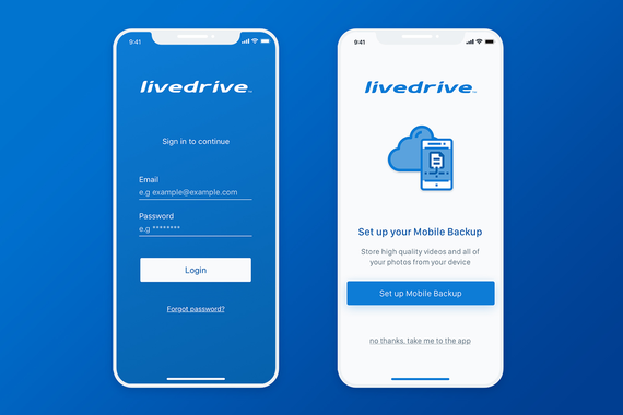 Livedrive iOS Redesign