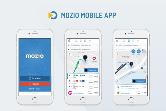 Mozio Android and iOS App