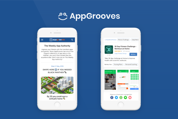 AppGrooves Mobile-first Website