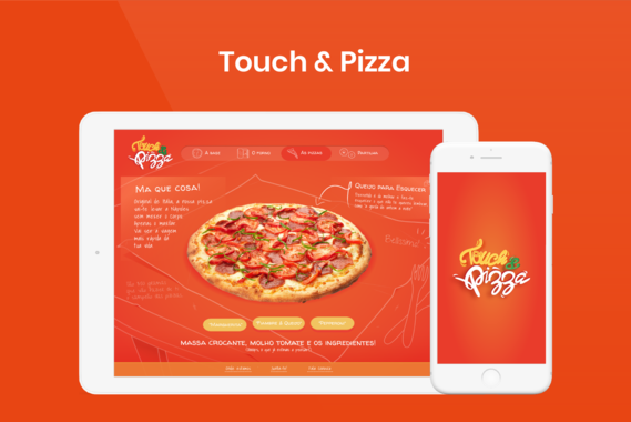 Touch and Pizza Tablet Website