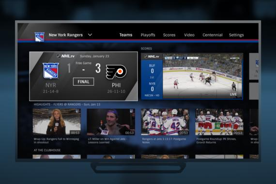 Visual Design | NHL.TV Team Home Video Portal