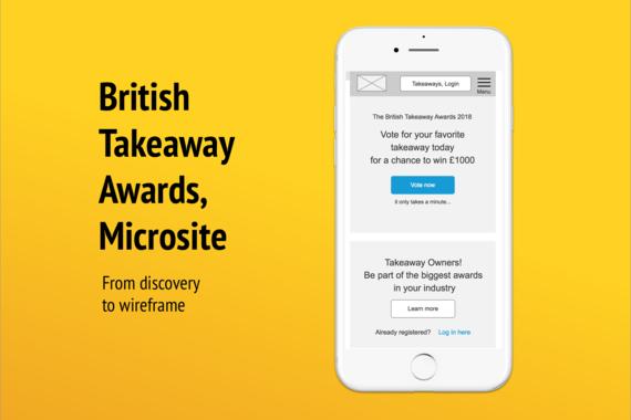 British Take Away Awards Microsite 2018