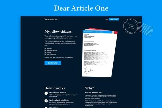 Dear Article One