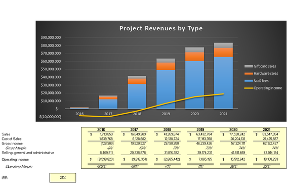 Financial Modeling for a Proposed New Line of Business