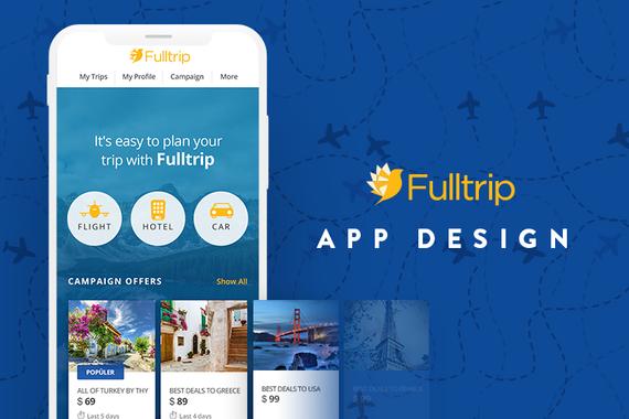 Fulltrip | App Design and Branding