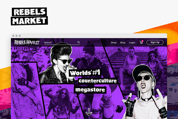 RebelsMarket Homepage and Graphic Design