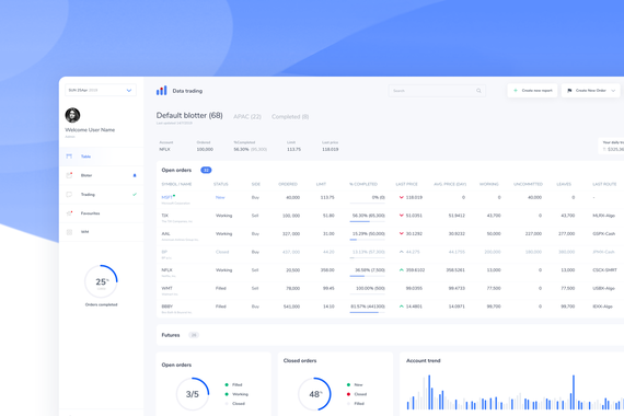 Enterprise Trading Web App SAAS UX and UI Design