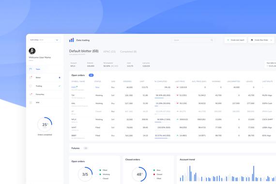 Enterprise Trading Web App SAAS UX and UI Design
