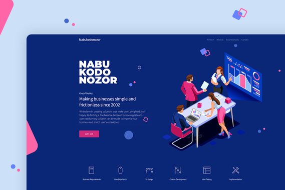 IT Company Web Page UI/UX Design and Branding