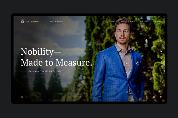 Sir Ludovic – brand and web design