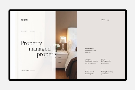 The Estate – brand strategy, web, and UI design