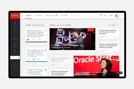 Oracle Newsroom – UX and UI design