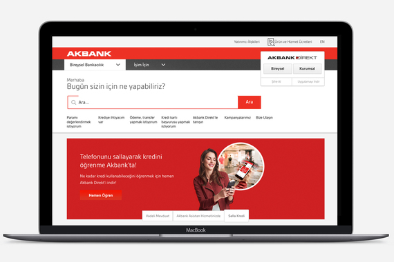Akbank Website Design