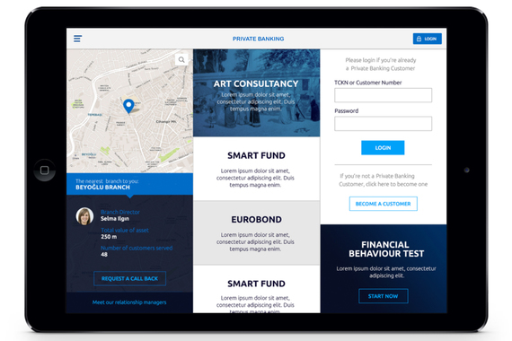 A Tablet Application for Private Banking Customers
