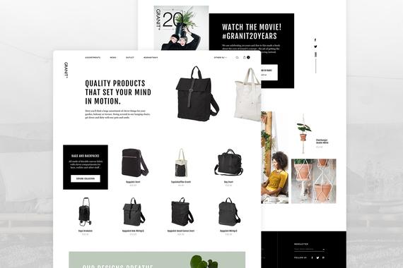 Granit - eCommerce Website Renewal Concept
