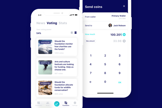 Charity Cryptocurrency App