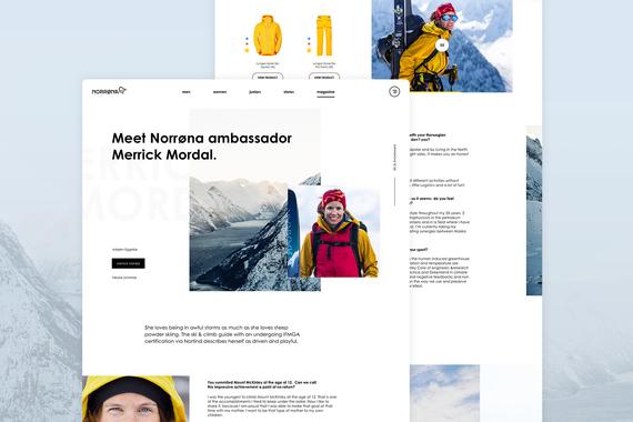 Norrøna - Online Magazine Redesign Concept