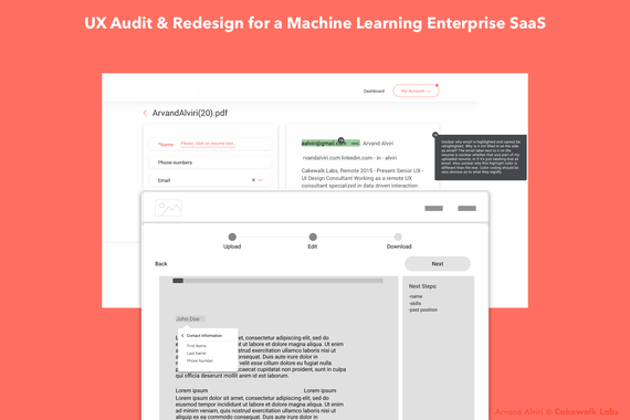 UX Audit & Redesign for Machine Learning Powered Enterprise SaaS