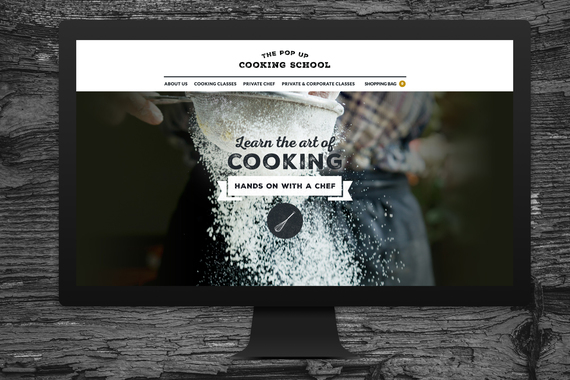 The Pop Up Cooking School - WordPress Website