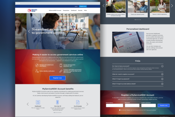 Service NSW - Government Digital Transformation Project