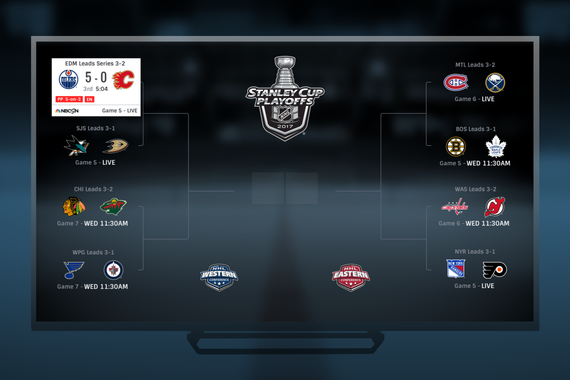 UX/Visual Design | NHL.TV Stanley Cup Brackets