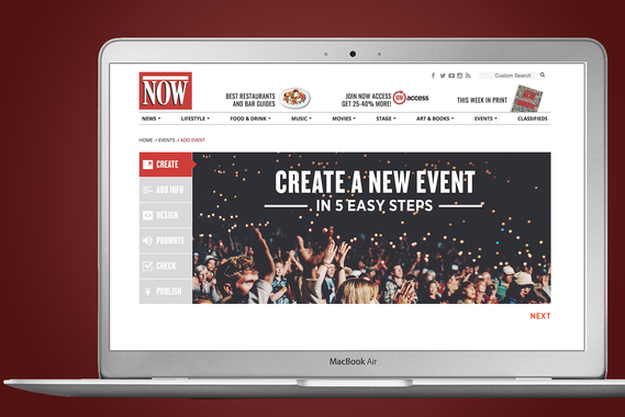 Toronto Now | Events Module